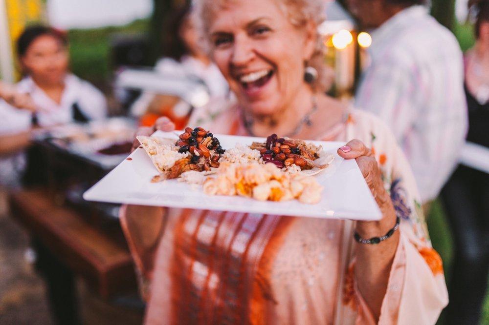 The Smokin Burrito Fresno Wedding Vendor Food Truck & a Happy Guest!