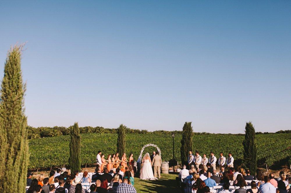 Toca Madera Winery Vineyard Wedding - Outdoor Ceremony