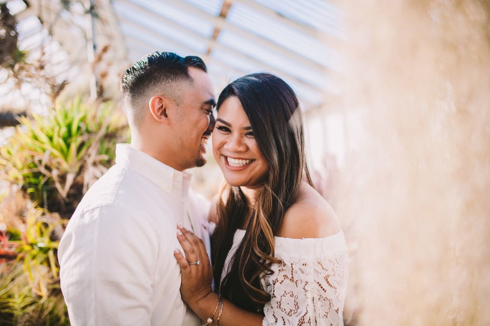 Shelldance Orchid Gardens Greenhouse Engagement Session Pacifica 11.jpg