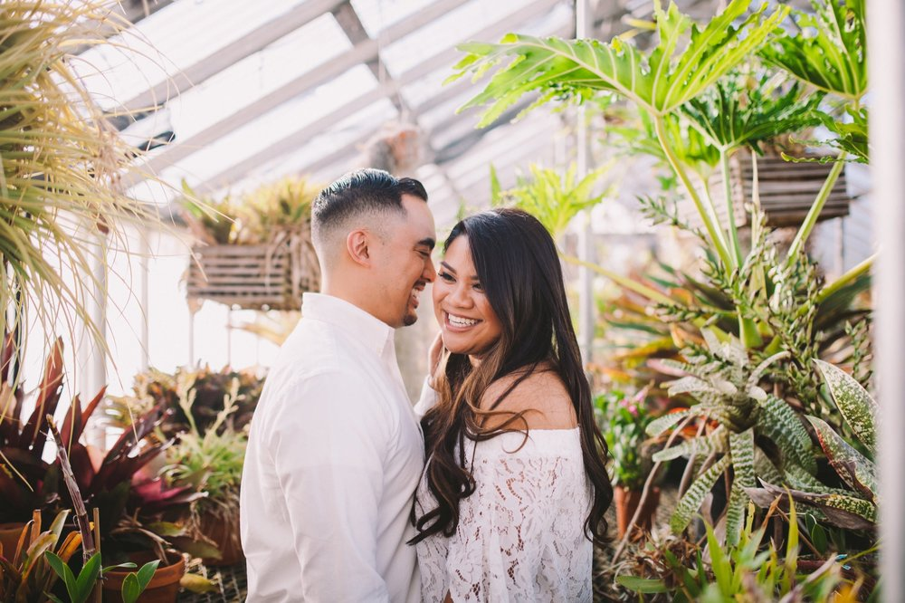 Shelldance Orchid Gardens Greenhouse Engagement Session Pacifica 15.jpg