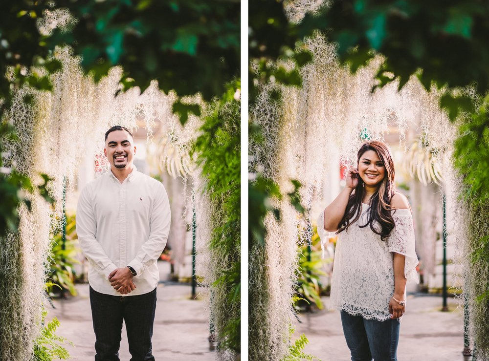 Shelldance Orchid Gardens Greenhouse Engagement Session Pacifica 20.jpg