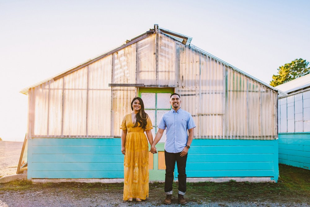 Shelldance Orchid Gardens Greenhouse Engagement Session Pacifica 42.jpg