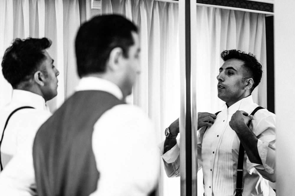 Carter Estates Winer Groom Prep Wedding
