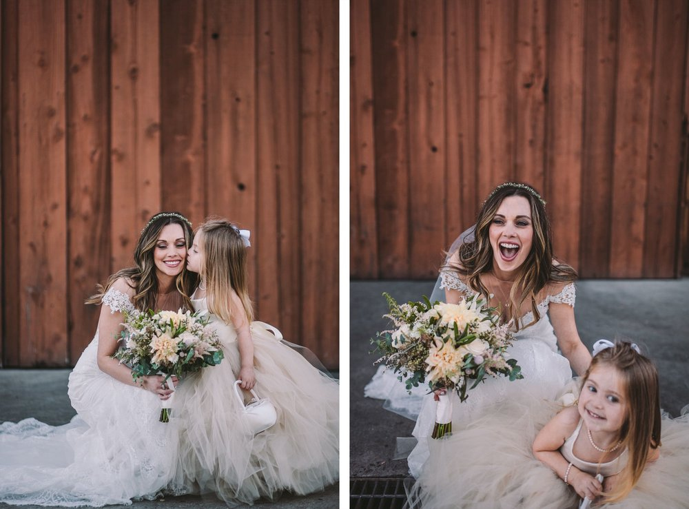 Bride & Flower Girl Wedding Photography Portrait