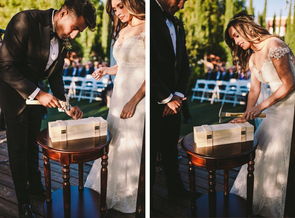 Wine & Note Time Capsule Unity Observation Wedding Photography