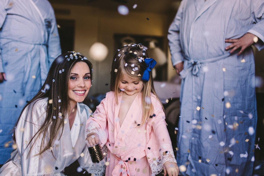 Flower Girl & Bride Wedding Confetti Poppers