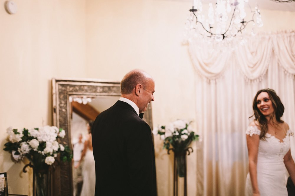 Father Daughter First Look Temecula Wedding Photography