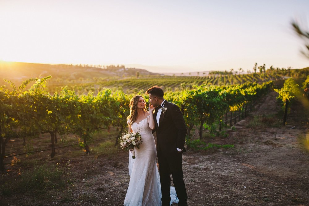 Falkner Winery Vineyards Wedding Photography Bride & Groom Couple Portraits