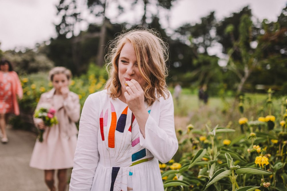 Eating Wild Honeysuckle Wedding Golden Gate Park