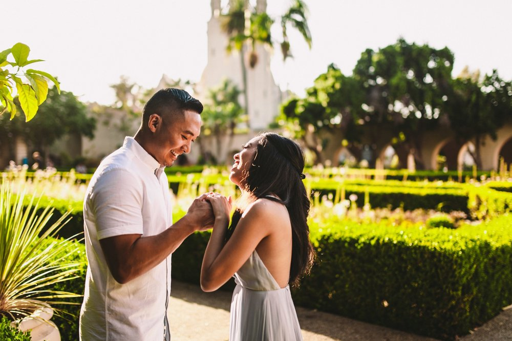 Balboa Park Evening Engagement Photography Session San Diego-30.jpg