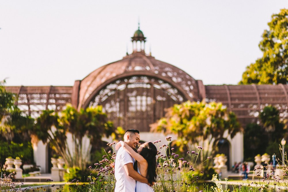 Balboa Park Evening Engagement Photography Session San Diego-36.jpg