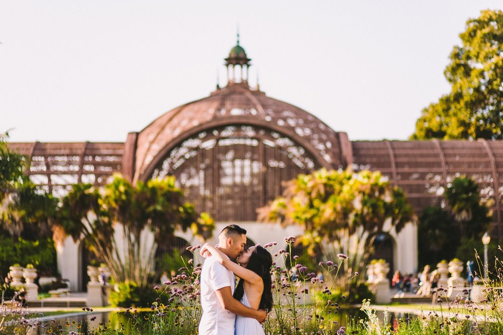 Balboa Park Evening Engagement Photography Session San Diego-37.jpg