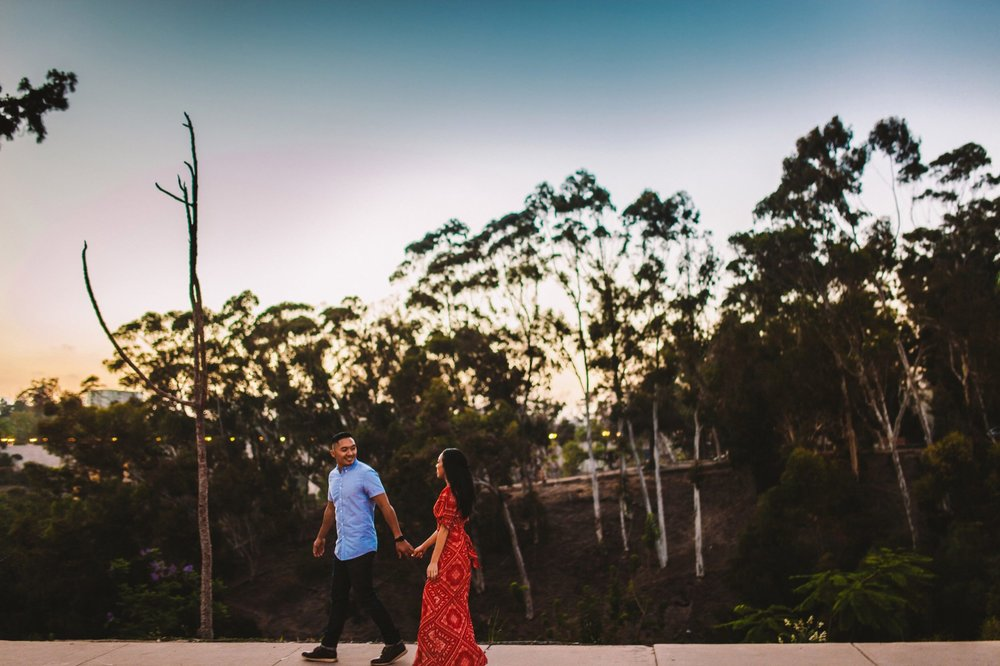 Balboa Park Evening Engagement Photography Session San Diego-65.jpg