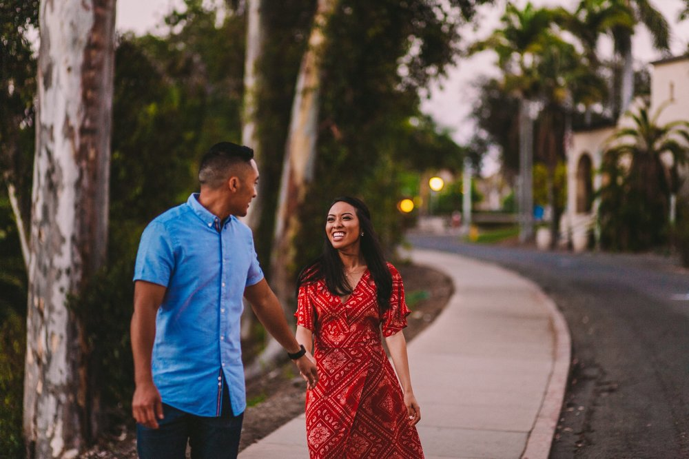Balboa Park Evening Engagement Photography Session San Diego-67.jpg