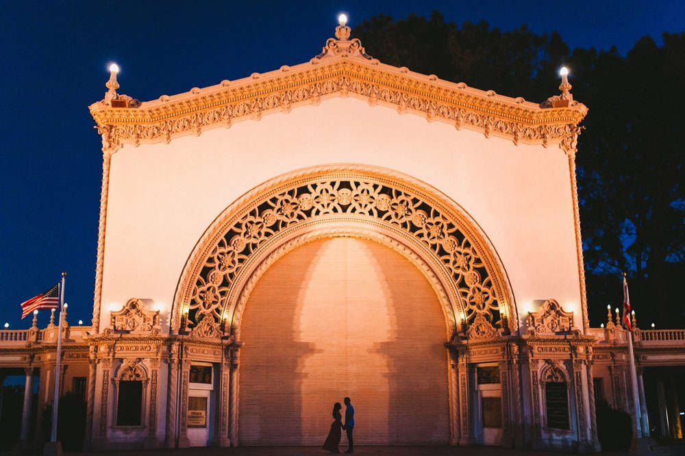 Balboa Park Evening Engagement Photography Session San Diego-76.jpg