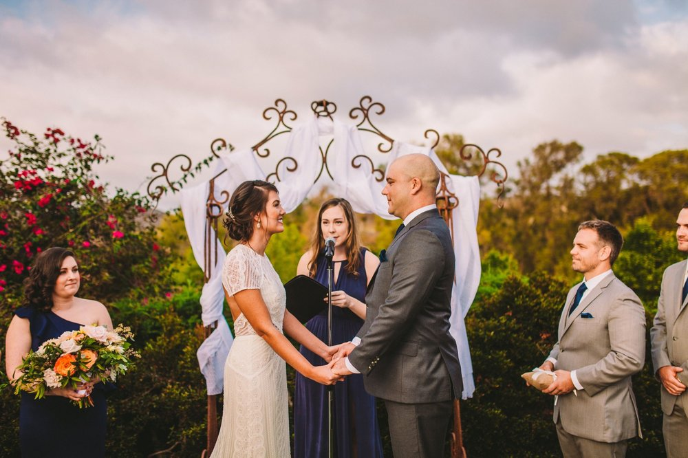 Wedding Ceremony at Historic Old Rancho in Carlsbad