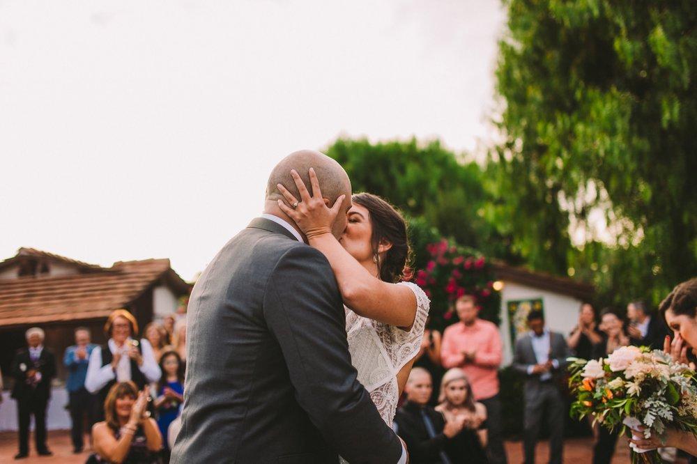 First Kiss at The Old Rancho in Carlsbad
