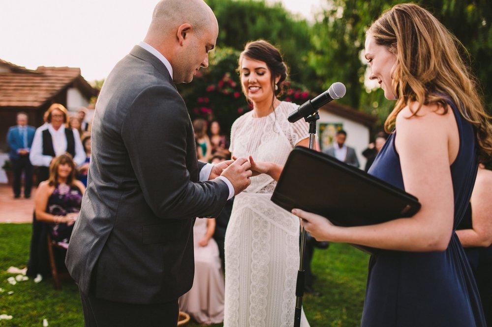 Caroline Levich Writer as Friend's Wedding Officiant