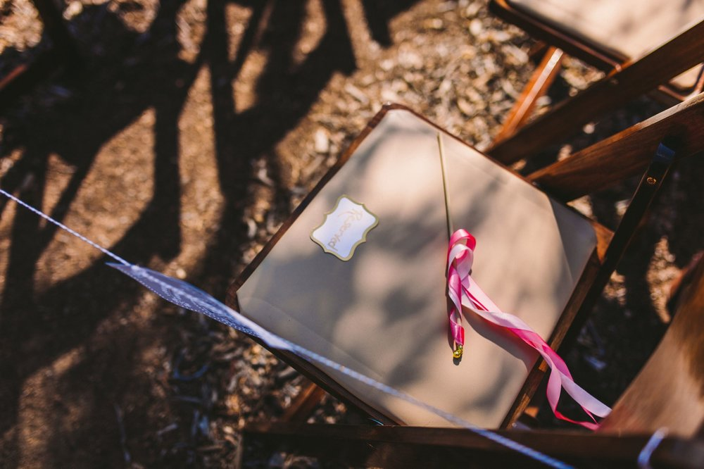 Ribbon Wand on Guest's Chair for Wedding