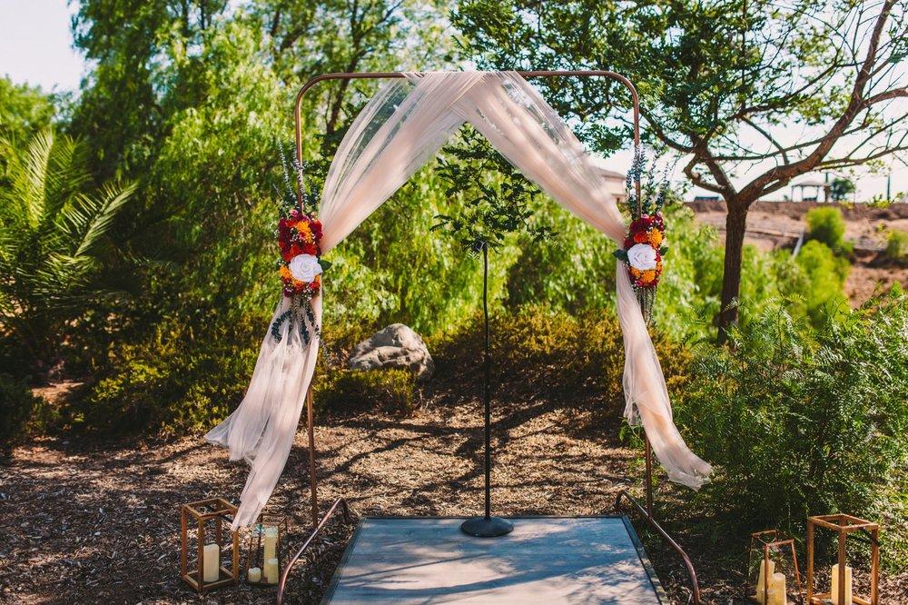 Sweet Stems Florist Temecula Wedding Day Colorful Flower Arch
