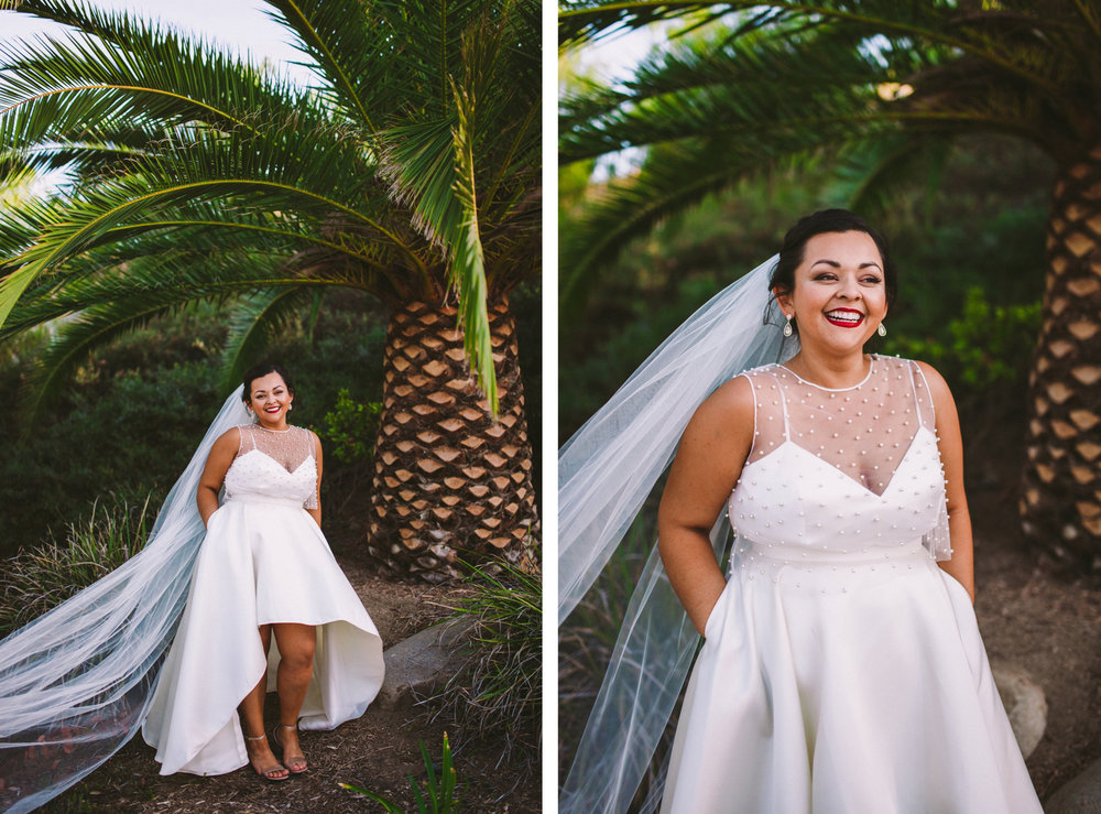 Bride in Wedding Dress with Hands in Pockets - BHDLN Separates