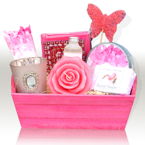 Gift Basket from the Heart - A gift basket with little treats will uplift anyone's mood. You can put her favorite candy, fuzzy socks, lavender Epsom salt for a nice bath, a candle, and maybe even one of the books listed above.