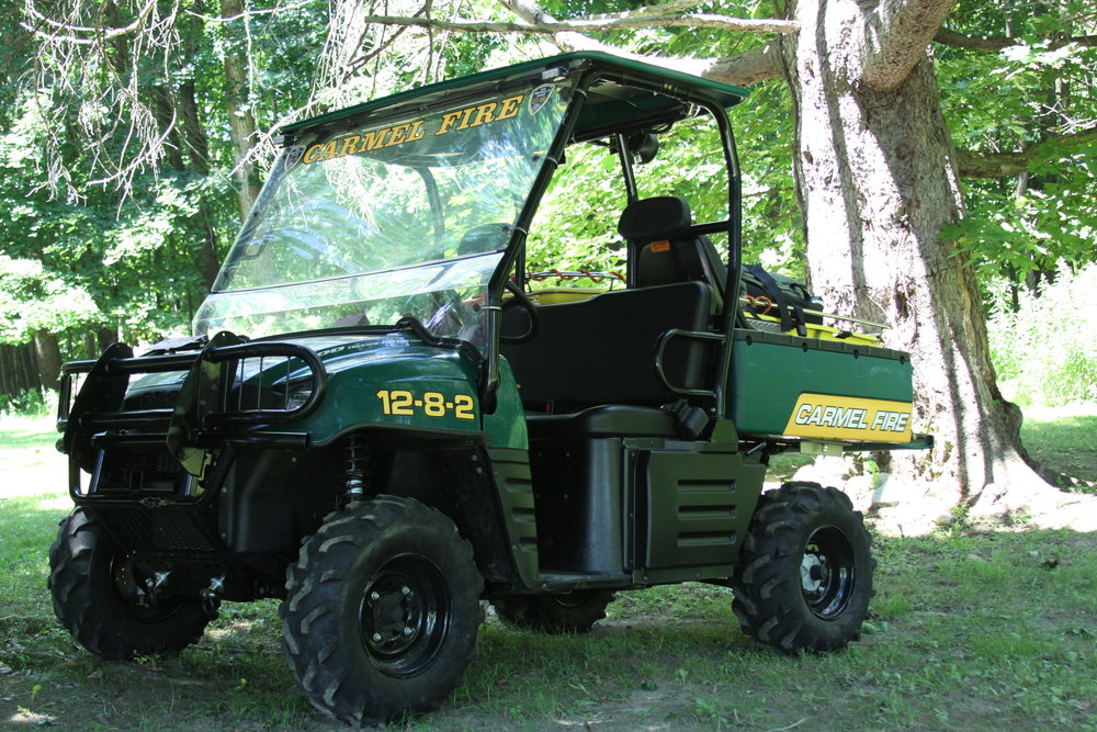 Gator 12-8-2 - The Gator's responsibility includes accessing brush fires in wooded areas and access to emergencies on Carmel's bike paths and medical emergencies in wooded areas.