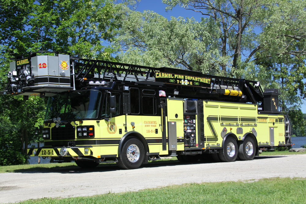 Ladder 12-5-1 - The Ladder Truck is Carmel Fire Department's newest piece of apparatus. Acquired in January, 2016, 12-5-1 is responsible for search and resuce and access to high roofs.