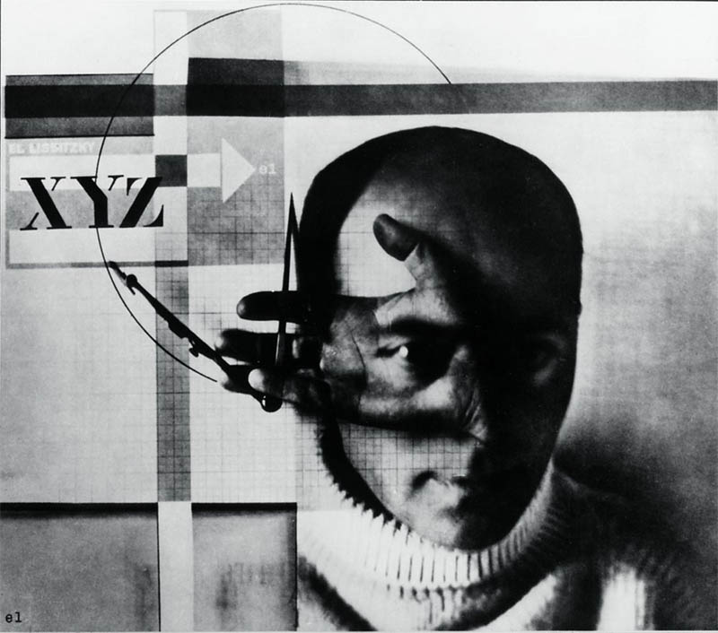 El Lissitzky  The Constructor  , 1924, London, Victoria & Albert Museum (Found on  Wikipedia )