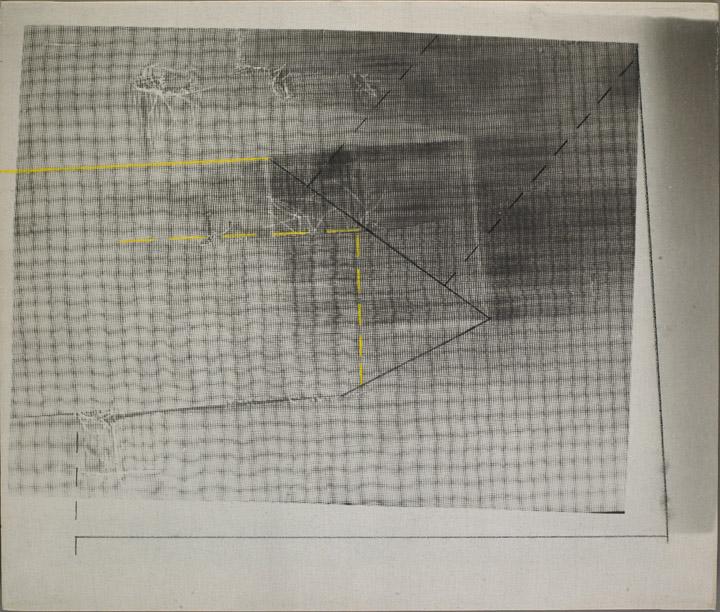 Barbara Kasten, Refraction III, 1979, Crayon on photo linen
