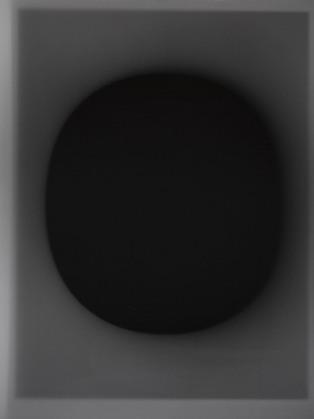 """My first luminogram exposed by the image displayed on the computer screen. Gelatine silver print, 16""""x12""""."""
