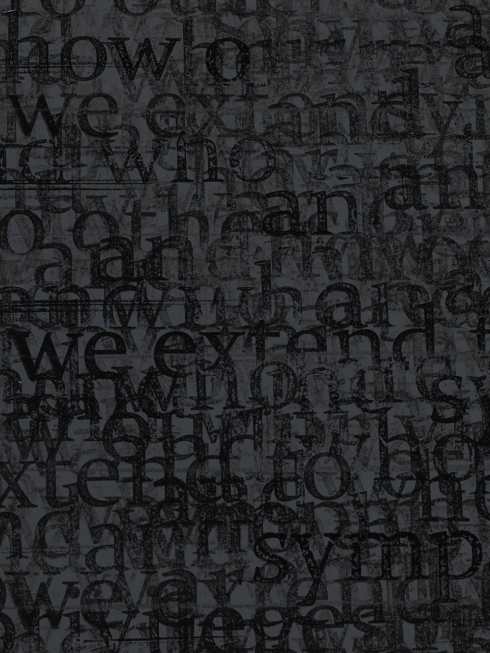 Idris Khan detail of  The Pain of Others (No. 2) , 2017, ink and acrylic on diabond panel with aluminum subframe, 267 × 188 × 6 cm.  Found on  http://artasiapacific.com/