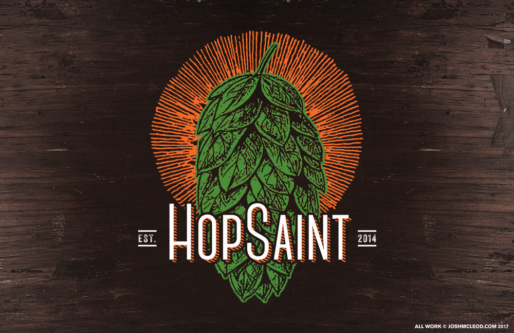 HopSaint Logotype / Illustration Redesign.