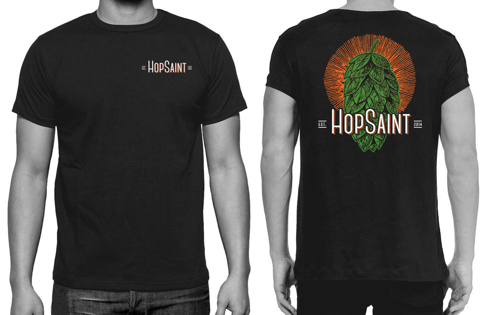 HopSaint T Shirt Redesign.