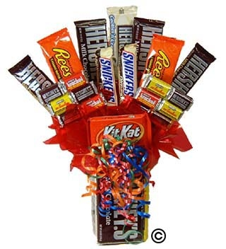 hershey bar bouquet gift baskets by g h
