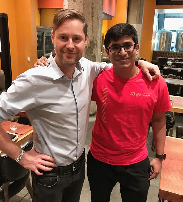 It was awesome meeting the CEO of @hootsuite today!! Can't wait to collab @invoker!
