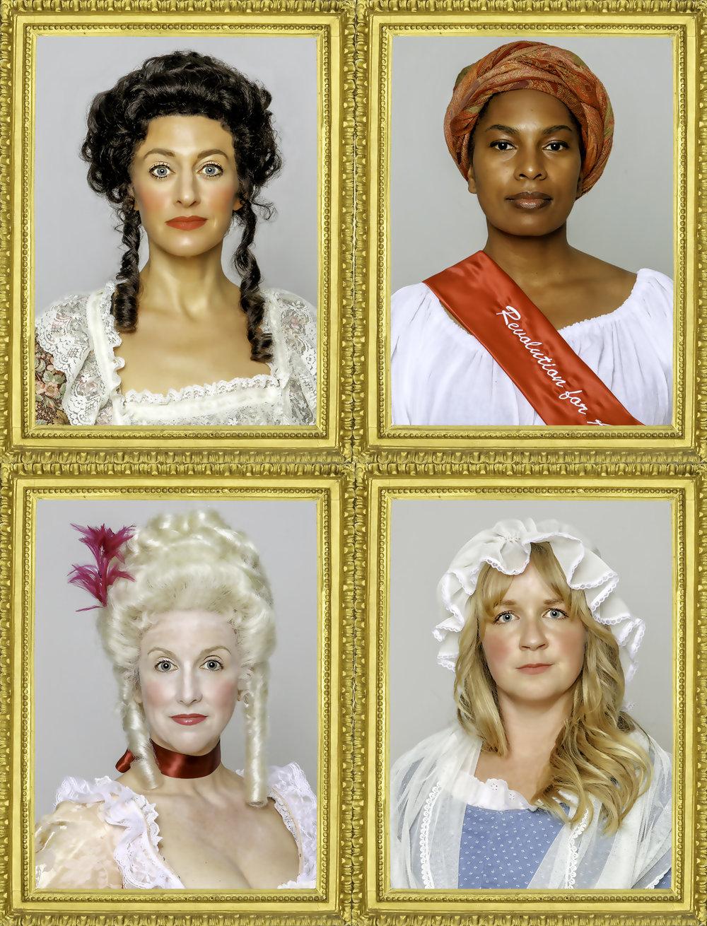 PHOTO BY STU SELLAND; pictured (clockwise, from top left): Sarah Mitchell, Kimberly Ridgeway, Heather Kellogg, Suzie Shepard