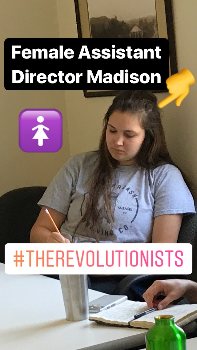 Aspiring Main Stage Director and current Education Director, Madison Gerringer serves at the Assistant Director for  The Revolutionists ! She has been engaging in research and taking notes as she collaborates closely with Susan E. Evans!