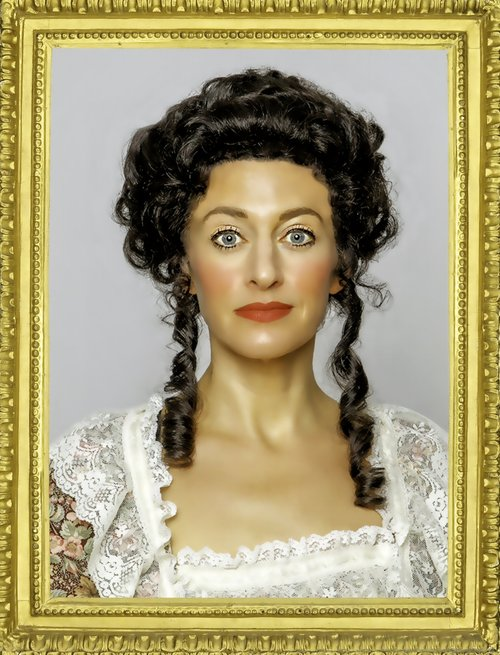 Sarah Mitchell plays Olympe de Gouges, the protagonist of  The Revolutionists.