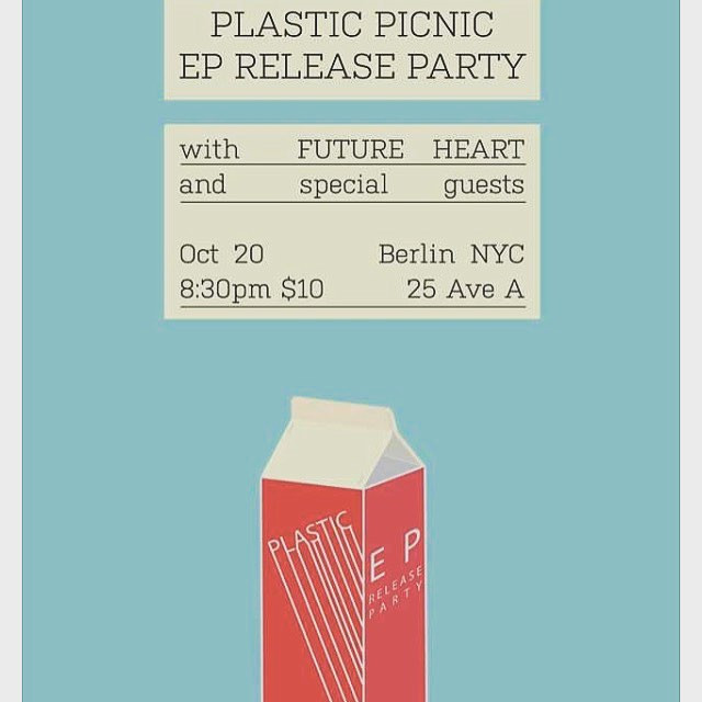 SHOW ALERT: Oct. 20 at Berlin NYC with good budz @plasticpicnic. We'll both have surprises in store! Ticket link in bio 💖💖