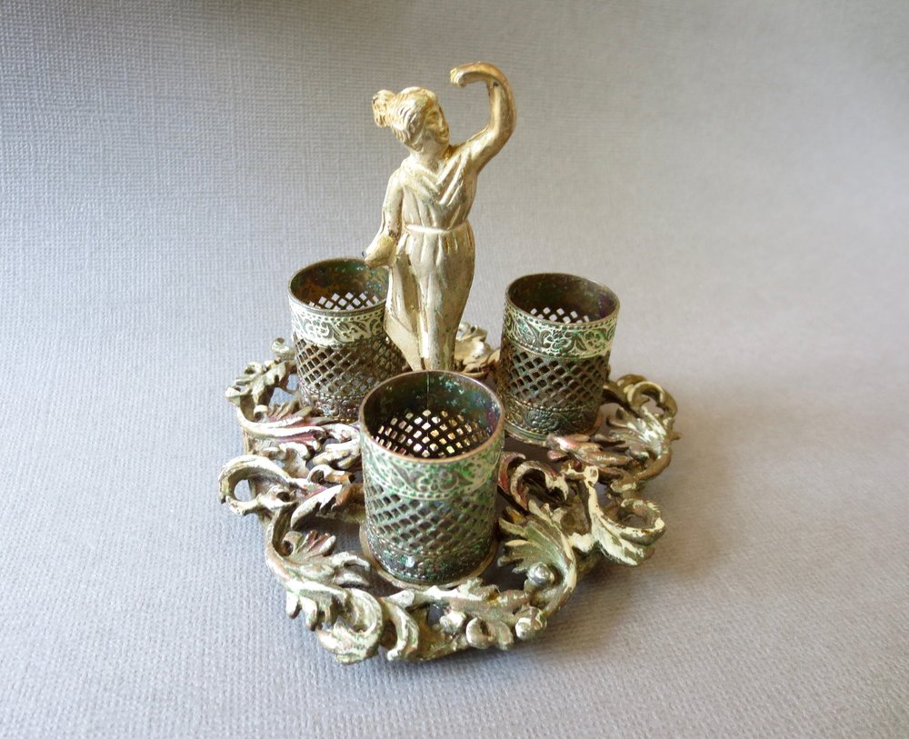 I loved this vintage lipstick holder that I found at a really great estate sale in Dallas. This Goddess was gone within a few hours of being listed.