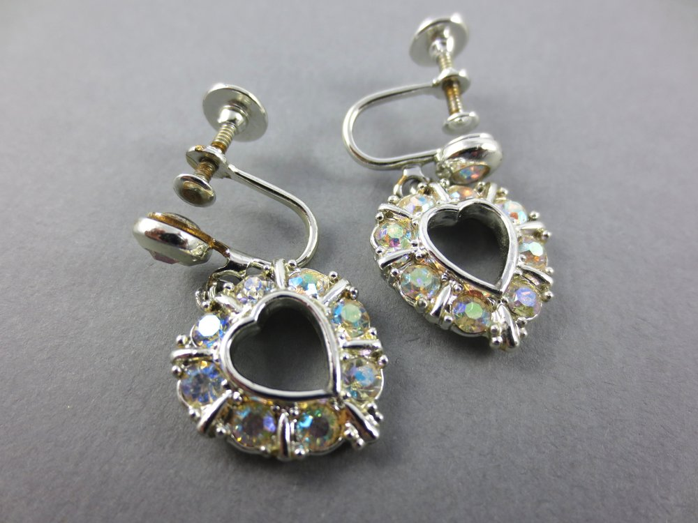 The second: This pair of rhinestone heart earrings that  really  sparkle!