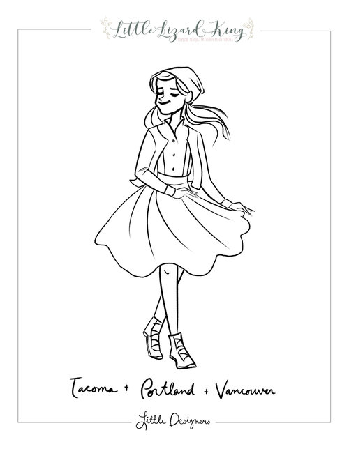 Tacoma Portland And Vancouver Coloring Page