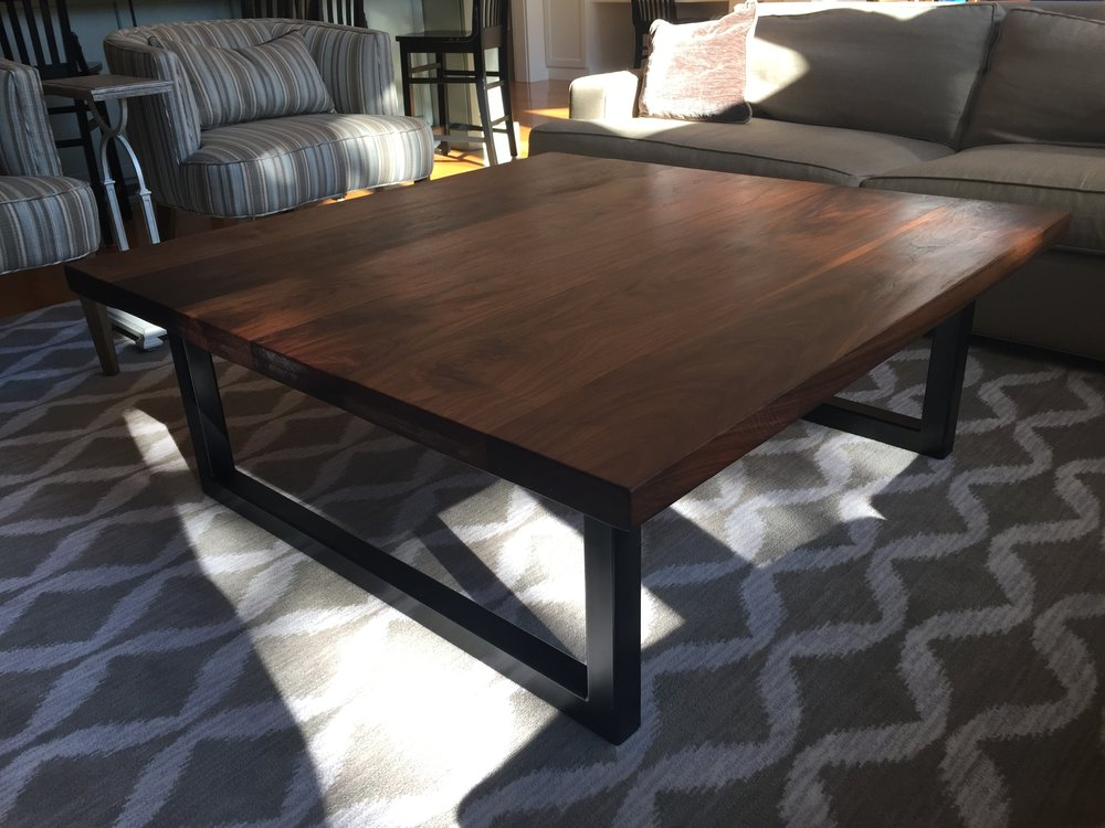 Modern Walnut Living Room Furniture elias custom furniture & design- coffee table, modern, contemporary