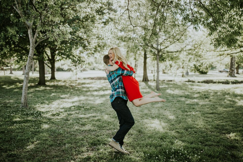 Hope + Hunter | Dallas Arboretum Engagement Session