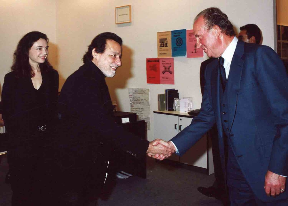 ARCO Madrid. Verorique Chanteau, Rolando Peña and Juan Carlos King of Spain
