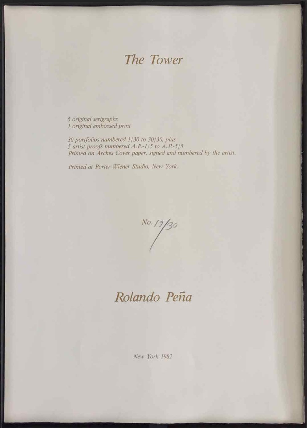 Rolando-Peña_01_Solo_The-Tower_Photo-Silkscreens_Specs_1982.jpg