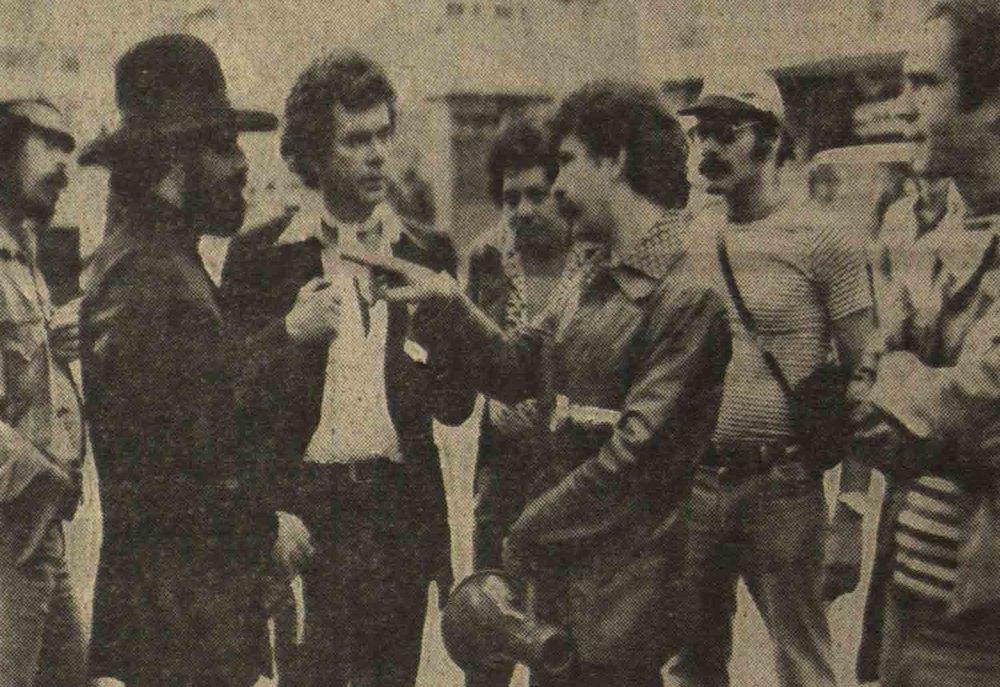 Enver Córdido with Rolando Peña, Hector Mayerston and Ramón Hinojosa