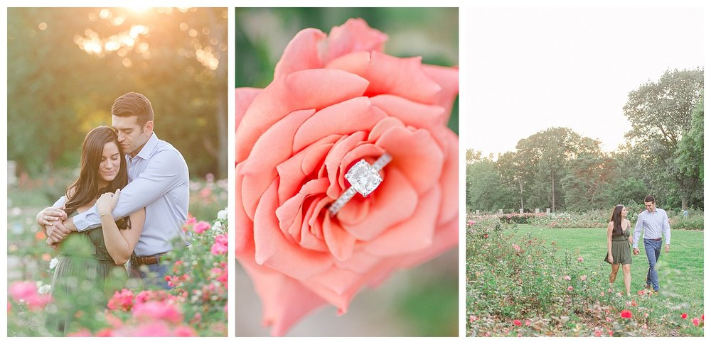 Park of Roses Engagement Session
