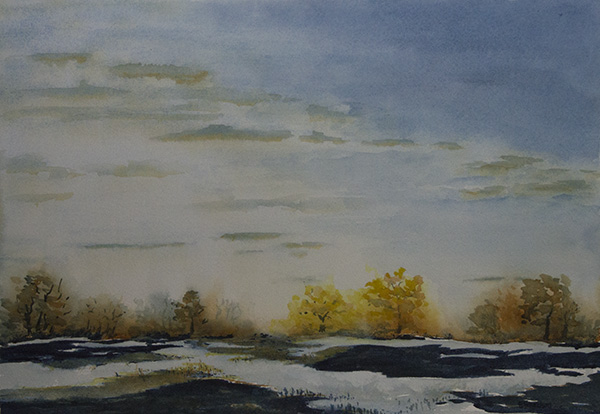 SOLD Evening Marsh